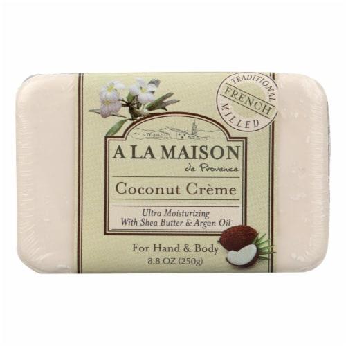 A La Maison - Bar Soap - Coconut Creme - 8.8 oz Perspective: front