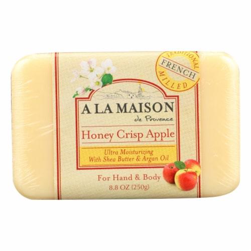 A La Maison - Bar Soap - Honey Crisp Apple - 8.8 oz Perspective: front