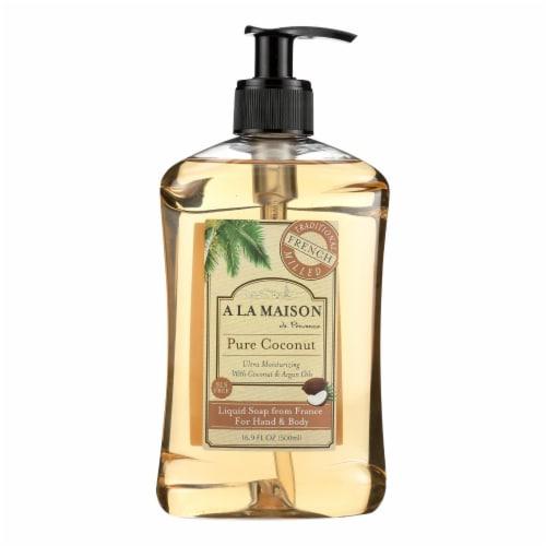 A La Maison - French Liquid Soap - Coconut - 16.9 oz Perspective: front