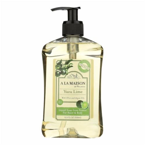 A La Maison De Provence Yuzu Lime Liquid Soap  - 1 Each - 16.9 FZ Perspective: front