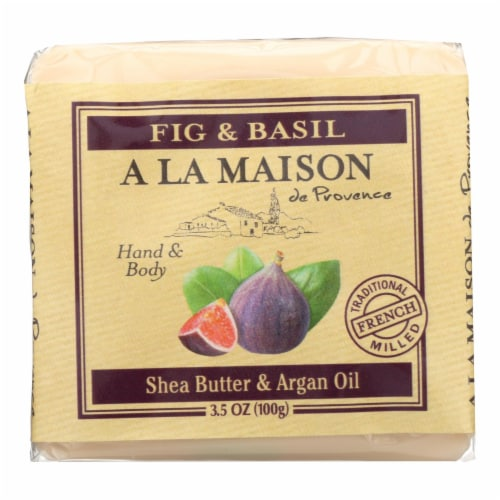 A La Maison - Bar Soap - Fig and Basil - Case of 6 - 3.5 Oz Perspective: front
