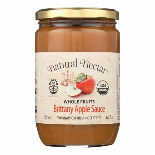 Natural Nectar Brittany Apple Sauce - Sauce - Case of 6 - 22.2 oz. Perspective: front