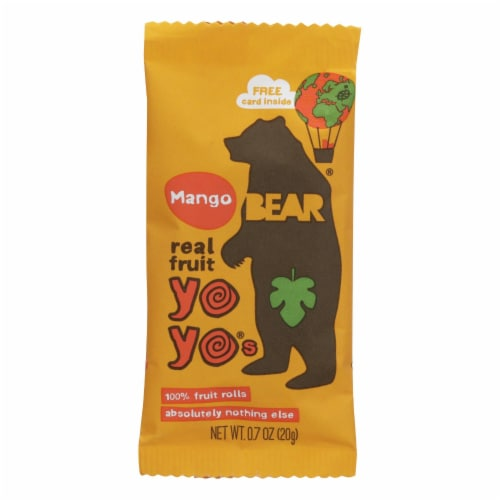 Bear Real Fruit Roll Yoyo - Mango - Case of 6 - 3.5 oz Perspective: front