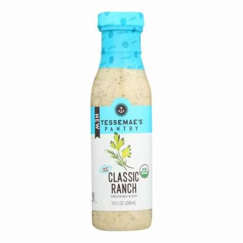 Tessemae - Classic Ranch Dressing - Case of 6 - 10 fl oz Perspective: front