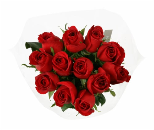 Dozen Red Rose Bunch (Approximate Delivery is 1-3 Days) Perspective: front