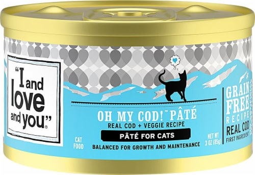 I and Love and You Oh My Cod Pate Cat Food Perspective: front