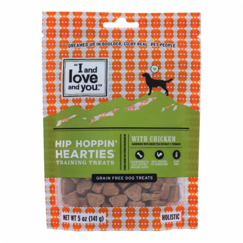 I And Love And You - Dog Trt Hip Hop Heart Chk - Case of 6 - 5 OZ Perspective: front