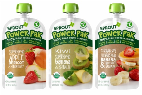 Sprout Organic Toddler Power Pack Variety Pack Perspective: front