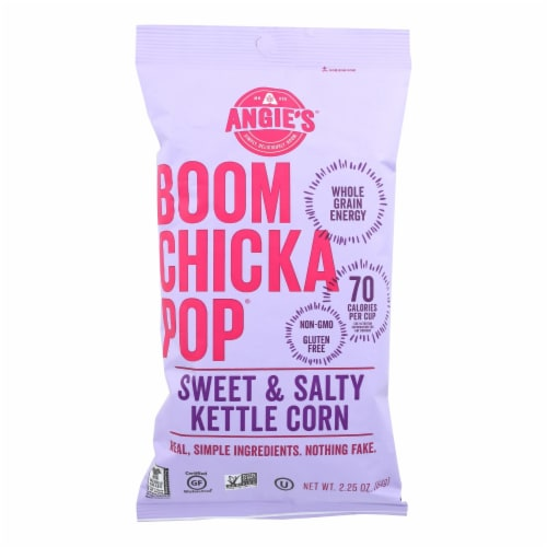 Angie's Kettle Corn Boomchickapop Sweet and Salty Popcorn - Case of 12 - 2.25 oz. Perspective: front
