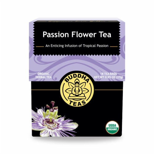 Buddha Teas - Organic Tea - Passion Flower - Case of 6 - 18 Count Perspective: front