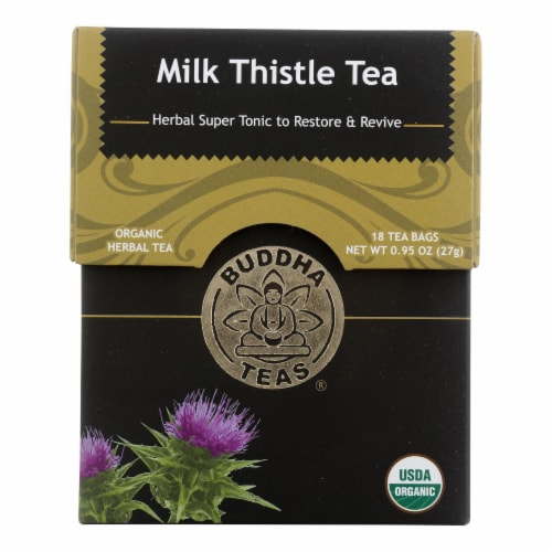 Buddha Teas - Organic Tea - Milk Thistle - Case of 6 - 18 Count Perspective: front