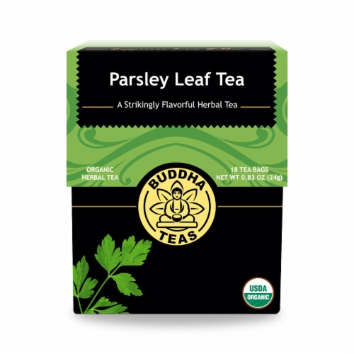 Buddha Teas - Organic Tea - Parsley Leaf - Case of 6 - 18 Count Perspective: front