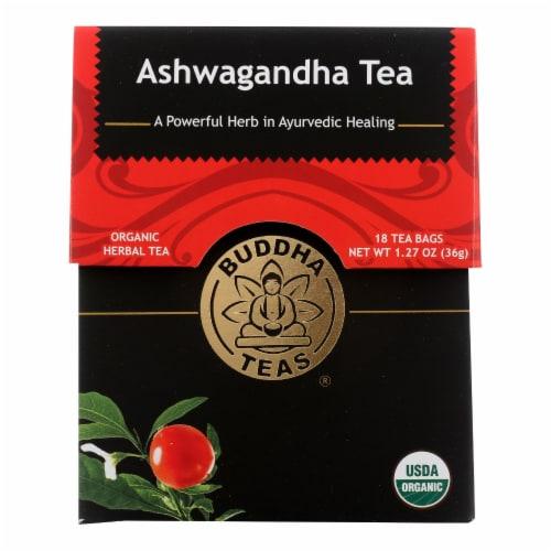 Buddha Teas - Organic Tea - Ashwaghanda - Case of 6 - 18 Count Perspective: front