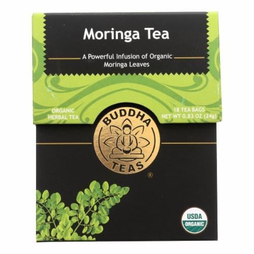 Buddha Teas - Organic Tea - Moringa - Case of 6 - 18 Bags Perspective: front