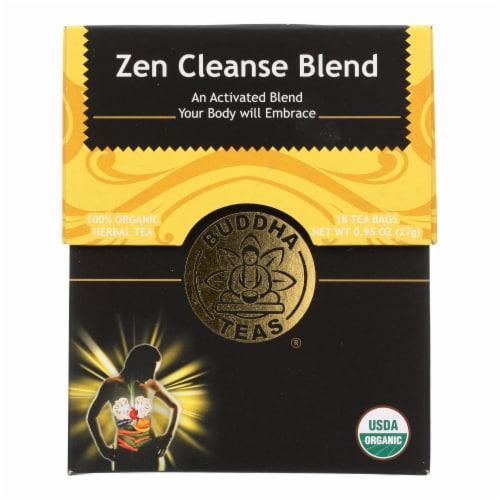 Buddha Teas -Tea - Zen Cleanse Blend - Case of 6 - 18 Bag Perspective: front