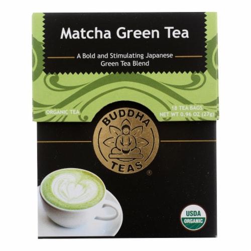 Buddha Teas -Tea - Matcha Green - Case of 6 - 18 Bag Perspective: front