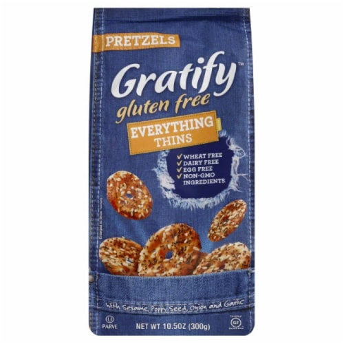 Gratify Everything Thins Pretzels, 10.5 Oz (Pack of 6) Perspective: front
