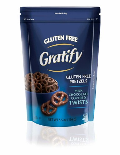 Gratify Gluten Free Pretzel Twists, Chocolate, 5.5 Ounce  (Pack of 12) Perspective: front