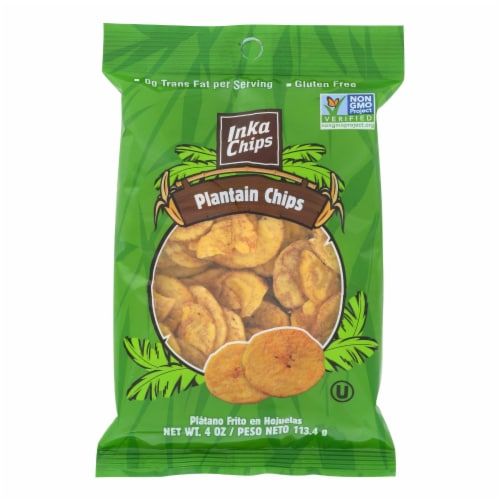 Inka Crops - Plantain Chips - Original - Case of 12 - 4 oz. Perspective: front