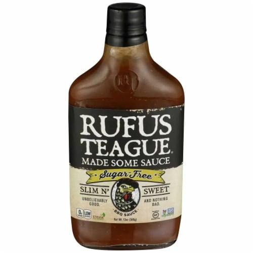 Rufus Teague Gluten Free Sugar Free Slim n' Sweet BBQ Sauce, 12 oz [Pack of 6] Perspective: front