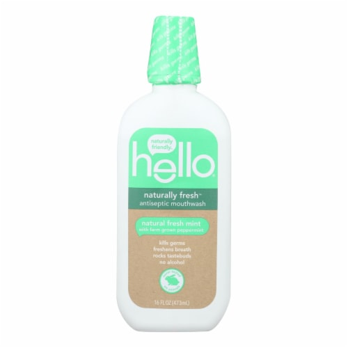 Hello Products Llc - Mthwsh Antsptc Natural Fresh - 1 Each-16 FZ Perspective: front