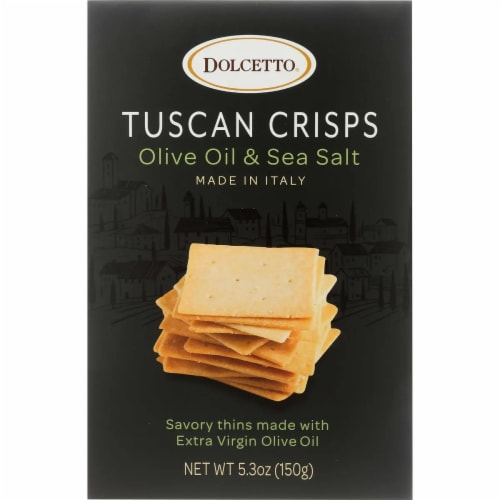 Dolcetto Tuscan Crisps Italian Cheese Blend  Made In Italy ,5.3 oz (Pack of 12) Perspective: front