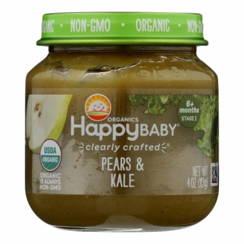 Happy Baby - Cc Pear Kale Stg2 - Case of 6 - 4 OZ Perspective: front