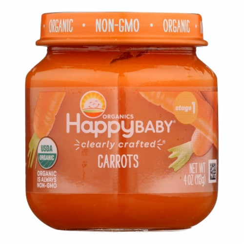 Happy Baby - Cc Jar Carrot Stg1 - Case of 6 - 4 OZ Perspective: front