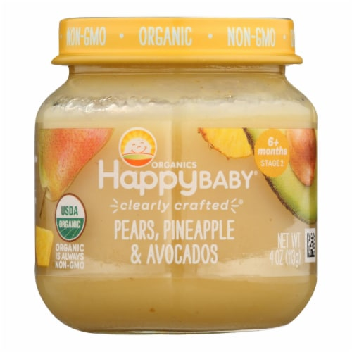 Happy Baby - Cc Pear Pine Avo Stg2 - Case of 6 - 4 OZ Perspective: front