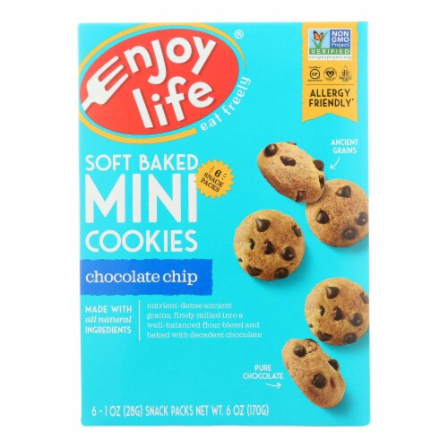 Enjoy Life - Mini Cookies - Chocolate Chip - Case of 6 - 6 oz. Perspective: front