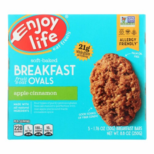 Enjoy Life - - Bar Breakfast Aple Cinnamon - Case of 6 - 8.8 OZ Perspective: front