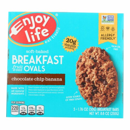 Enjoy Life - Bar Breakfast Cchip Ban - Case of 6 - 8.8 OZ Perspective: front