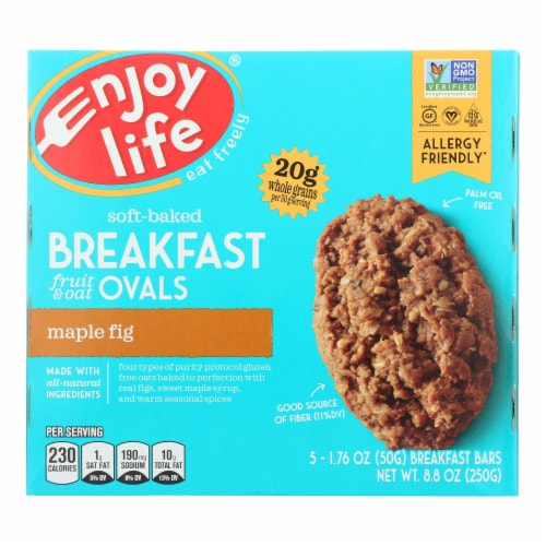 Enjoy Life - Bar Breakfast Maple Fig - Case of 6 - 8.8 OZ Perspective: front