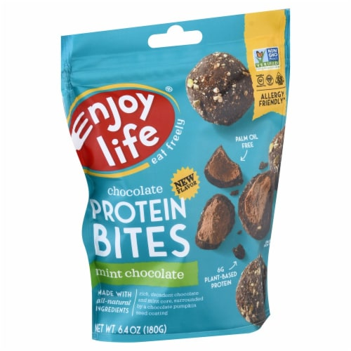 Enjoy Life Mint Chocolate Protein Bites Perspective: front