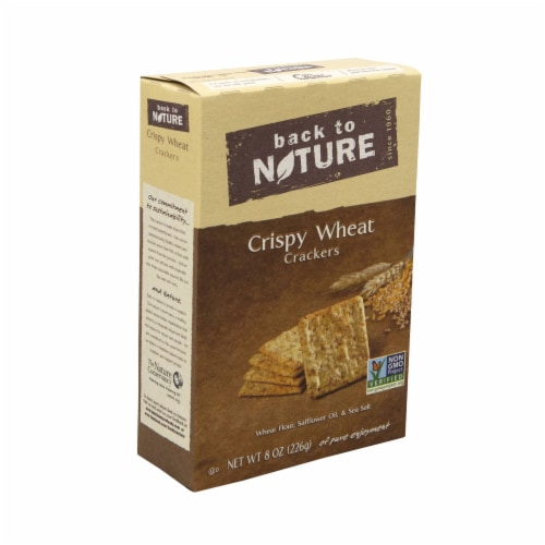 Back to Nature Crispy Wheat Cracker, 8 Ounce -- 6 per case. Perspective: front