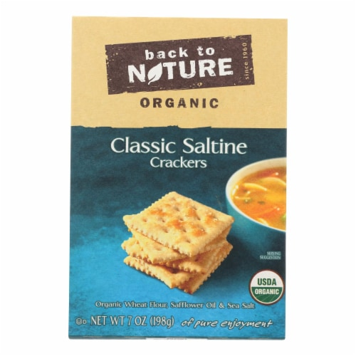 Back To Nature Crackers - Organic - Classic Saltine - 7 oz - case of 6 Perspective: front