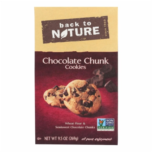 Back To Nature Chocolate Chunk Cookies - Case of 6 - 9.5 oz. Perspective: front