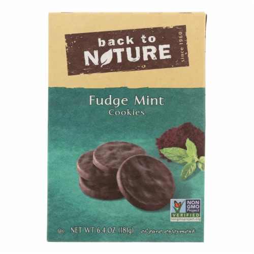 Back To Nature Cookies - Fudge Mint - Case of 6 - 6.4 oz. Perspective: front