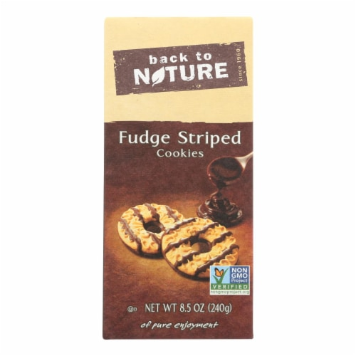 Back To Nature Fudge Striped Shortbread Cookies Perspective: front