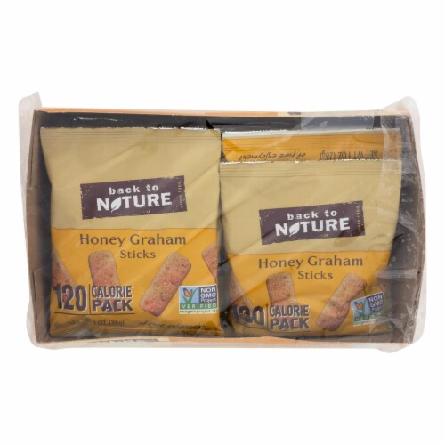 Back To Nature Honey Graham Sticks - Graham Flour and Honey - Case of 4 - 1 oz. Perspective: front
