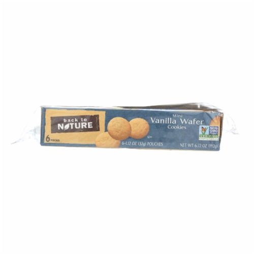Back To Nature Madagascar Vanilla Wafers  - Case of 4 - 1.12 oz. Perspective: front