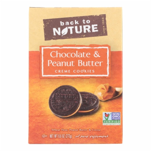 Back To Nature Cookies - Chocolate Peanut Butter Cream Perspective: front