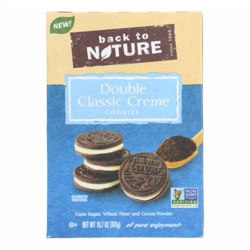 Back To Nature Cookies - Double Classic Creme - Case of 6 - 10.7 oz Perspective: front