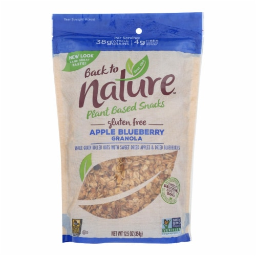 Back To Nature Granola - Apple Blueberry - Case of 6 - 12.5 oz. Perspective: front