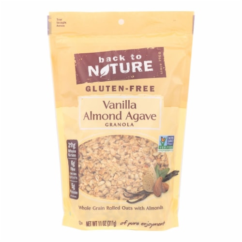 Back To Nature Gluten Free Vanilla Almond Agave Granola Perspective: front