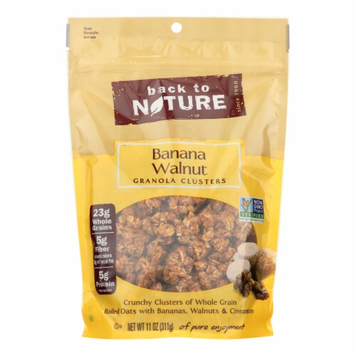 Back To Nature Granola Clusters - Banana Walnut - Case of 6 - 11 oz. Perspective: front