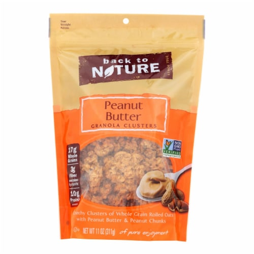 Back To Nature Granola - Peanut Butter - Case of 6 - 11 oz. Perspective: front