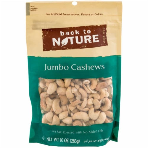Back to Nature Sea Salt Roasted Jumbo Cashews Nuts, 9 Ounce -- 9 per case. Perspective: front