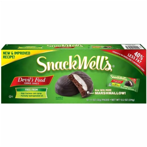 Snackwells Devils Food Cookie Cake, 1.1 Ounce -- 32 per case. Perspective: front