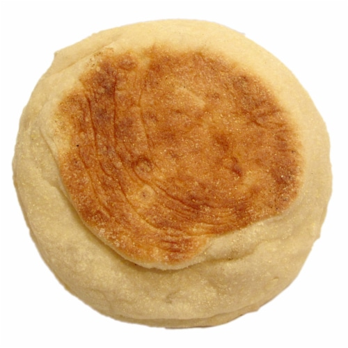 Burry English Muffin Plain, T and S, Forksplit, 3 Ounce -- 48 per case. Perspective: front